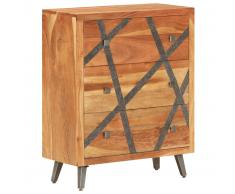 vidaXL Aparador de madera maciza de acacia 60x30x75 cm