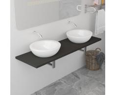 vidaXL Mueble de cuarto de baño gris 160x40x16,3 cm