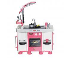 Polesie Wader Cocina con lavavajillas 64x40x87 cm rosa 1450632