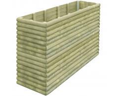 vidaXL Jardinera de madera pino impregnada 197x56x96 cm