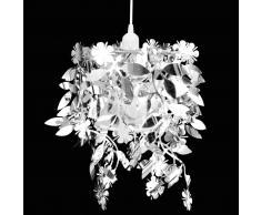 vidaXL Lámpara colgante con lentejuelas ovaladas plateadas 21,5 x 30 cm