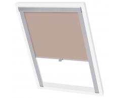 vidaXL persiana opaca enrollable color beige 206