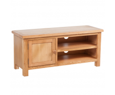 vidaXL Mueble para el televisor madera maciza roble 103x36x46 cm