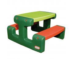 Little Tikes Mesa de picnic para niños color verde y naranja, marca