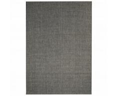 vidaXL Alfombra exterior/interior 180x280 apariencia sisal gris oscuro