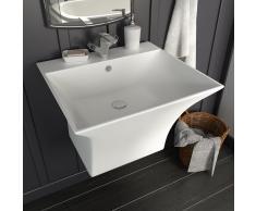 vidaXL Lavabo de pared de cerámica blanco 500x450x410 mm