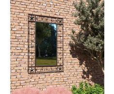 vidaXL Espejo de pared de jardín rectangular 50x80 cm negro