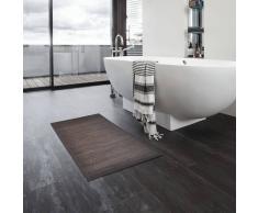 vidaXL Alfombrillas de baño 4 unidades bambú marrón oscuro 40x50 cm