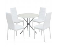 vidaXL Conjunto de mesas y sillas comedor cinco piezas