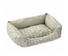 D&D Cojín cama de mascota Lovely corazones beis y blancos 671/437964