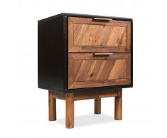 vidaXL Mesita de noche de madera de acacia sólida 40x30x53 cm