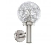 EGLO Lámpara de pared exterior Nisia 1 60 W plateada 93366