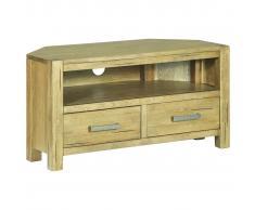 vidaXL Mueble de TV de esquina madera de roble rústica 88x42x46 cm