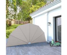 vidaXL Toldo lateral plegable terraza color crema 200 cm