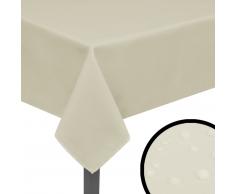 vidaXL Manteles de mesa 5 unidades crema 220x130 cm
