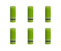 Bolsius Vela Del Pilar Rústica 190 x 68 mm 6 Piezas Verde