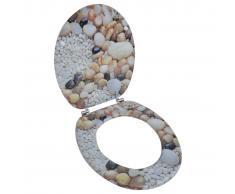 vidaXL Tapa de wc de madera MDF, con estampado de piedras