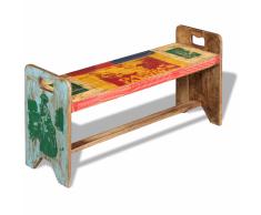 vidaXL Banco cola madera maciza reciclada 100x30x50 cm