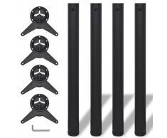vidaXL Patas de mesa ajustables en 4 alturas negro 710 mm