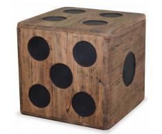 vidaXL Caja de almacenamiento madera mindi 40x40x40 cm diseño de dado