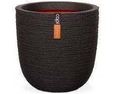 Capi Macetero Nature Rib 43x41 cm negro KBLR933