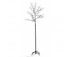 vidaXL Luces De LED Parpadeas Árbol Blancas 210cm