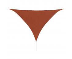vidaXL Toldo de vela triangular tela oxford 5x5x5 m terracota