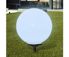 vidaXL Lámpara solar de jardín en forma de bola con LED, 50 cm