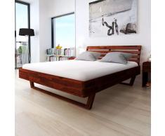 vidaXL Estructura de cama madera acacia marrón 180x200 cm