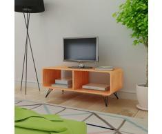 vidaXL Mueble para televisión/mesa de madera marrón 90x39x38,5 cm