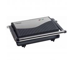 Bestron Plancha grill 750 W plateado y negro acero inoxidable APG150