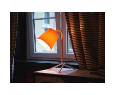 Beliani Lámpara de mesa, Iluminación de noche, Acero, Blanco, MOOKI