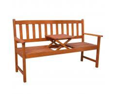 vidaXL Banco de jardín con mesa desplegable madera acacia