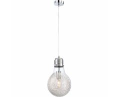 GLOBO Lámpara colgante FELIX vidrio cromado 15039