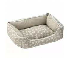 D&D Cojín cama de mascota Lovely corazones beis y blancos 671/437971