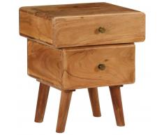 vidaXL Mesita de noche de madera maciza de acacia 40x35x49 cm