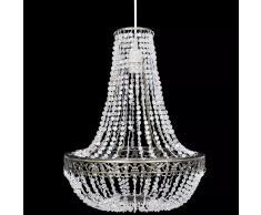 vidaXL Lámpara de araña de cristal 36,5x46 cm