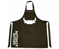 Gusta Delantal Grillin & Chillin tela 85x70 cm negro 01250020