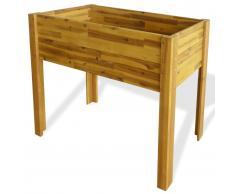 vidaXL Jardinera elevada de madera maciza de acacia