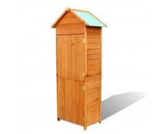 vidaXL Armario de almacenaje jardín madera impermeable