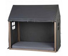 CHILDHOME Dosel de cama forma de casa 150x80x140cm gris antracita