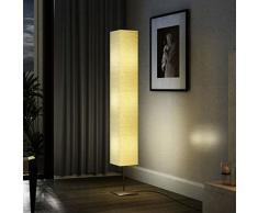 vidaXL Lámpara de pie con soporte de acero 170 cm beige
