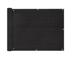 vidaXL Toldo para balcón HDPE 90x600 cm gris antracita
