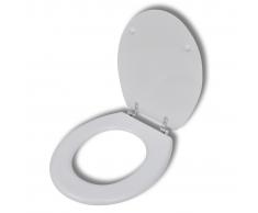 vidaXL Asiento de inodoro con tapa cierre duro, blanco