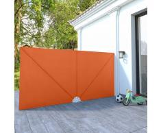 vidaXL Toldo lateral plegable terraza color terracota 400x200 cm