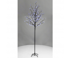 vidaXL Arbol con luces LED azules, cerezo