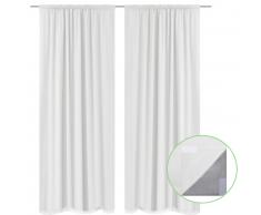 vidaXL 2 cortinas blancas ahorradoras de energía blackout 140x245cm