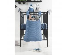 Jollein Bolsa para cuna 40x10x50 cm tejido grueso azul 010-871-65087