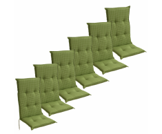 vidaXL Cojín para sillas de jardín 6 unidades 117x49 cm verde