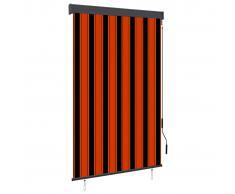 vidaXL Estor enrollable de exterior naranja y marrón 120x250 cm